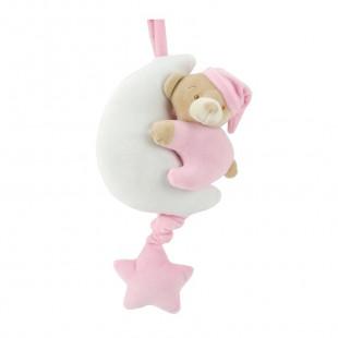 Musical toy pink bear