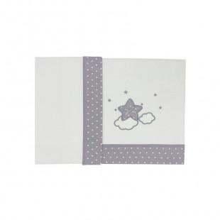 3pcs bedding set (pillowcase, sheet & fitted sheet 70X140)