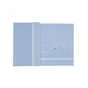 3pcs bedding set (pillowcase, sheet & fitted sheet 100X170)