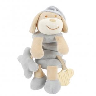 Spiral toy for pram grey dog