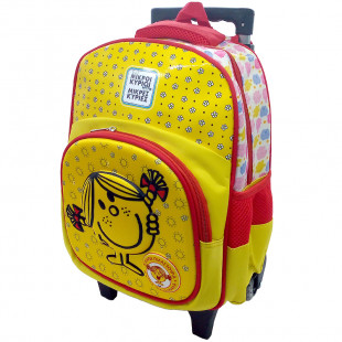 Trolley backpack for kindergarten with lights Miss Laugh