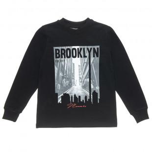 "Long sleeve top Moovers with print ""Brooklyn"" (6-16 years)"