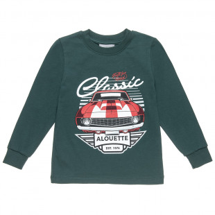 Long sleeve top with car print (18 months-5 years)