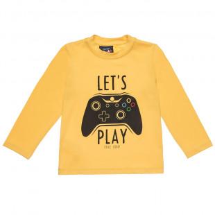 """Μπλούζα Five Star με τύπωμα """"Let's play"""" (2 μηνών-5 ετών)"""