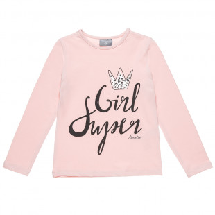 Long sleeve top with foil detail (6-16 years)