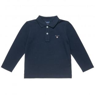 Μπλούζα Gant πικέ με κέντημα (2-7 ετών)
