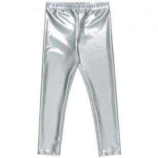 Leggings metallic silver (6-12 years)