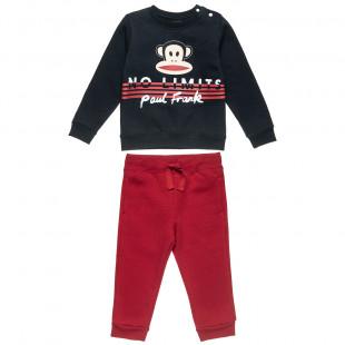 Σετ φόρμας Paul Frank με ανάγλυφο τύπωμα (12 μηνών-5 ετών)