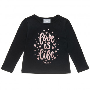 Long sleeve top with foil detail (12 months-5 years)