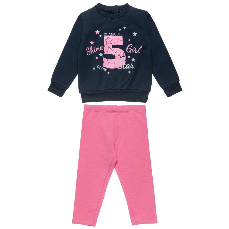 """Tracksuit Five Star with print """"Shine Girl"""" (18 months-5 years)"""