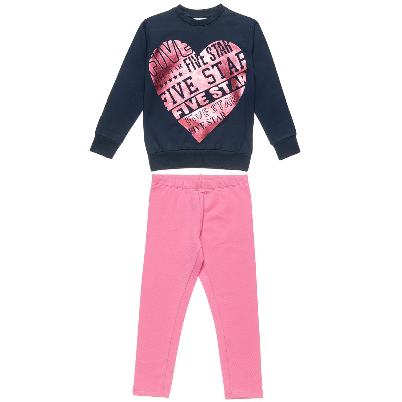 Tracksuit Five Star with foil heart (6-14 years)
