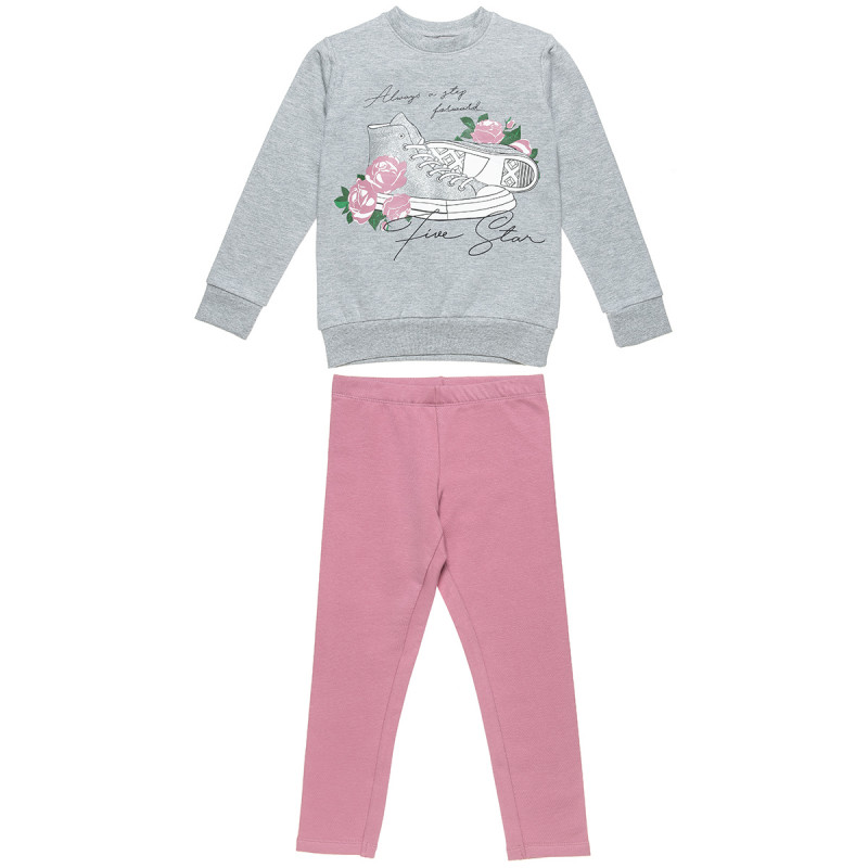 Tracksuit Five Star with glitter detail print (6-16 years)