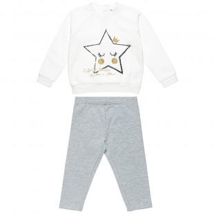 Tracksuit Five Star with glitter detail print (12 months-5 years)