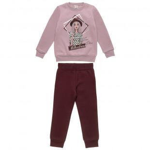 Σετ φόρμας Five Star μπλούζα με foil τύπωμα και παντελόνι (6-14 ετών)