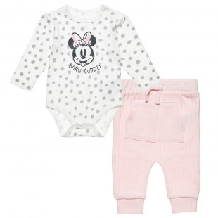 Set Disney Minnie Mouse babygrow with pants (3-12 months)