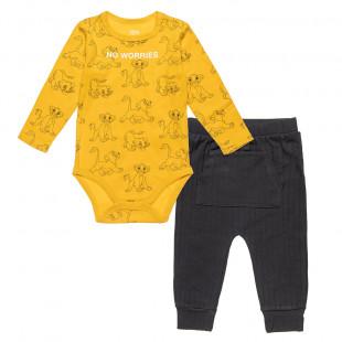 Set Disney Lion King Simba babygrow with pants (3-12 months)
