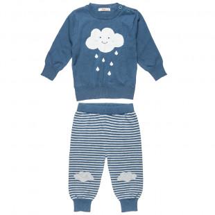 Σετ πουλόβερ με παντελονάκι με σχέδιο συννεφάκι (6-18 μηνών)