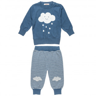 Sweater with pants cloud print (6-18 months)