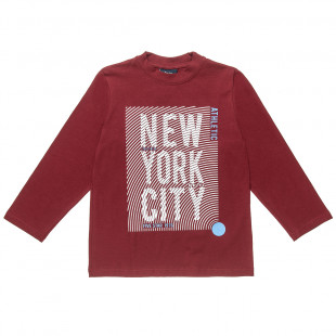 """Long sleeve top with print """"New York City"""" (6-16 years)"""