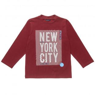 """Μπλούζα με ανάγλυφο τύπωμα """"New York City"""" (6-16 ετών)"""