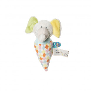 Soft baby rattle baby elephant (3+ months)