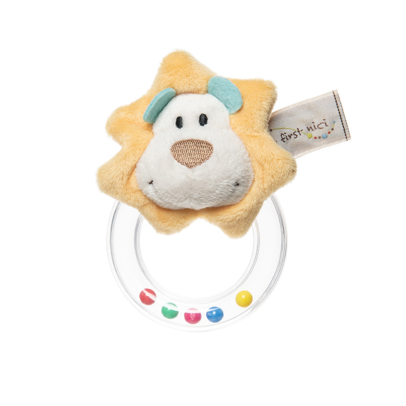 Soft baby rattle ring lion (3+ months)