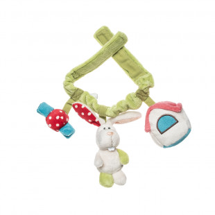 Plush toy for crib/stroller (3+ months)