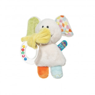 Soft baby rattle ring elephant (3+ months)