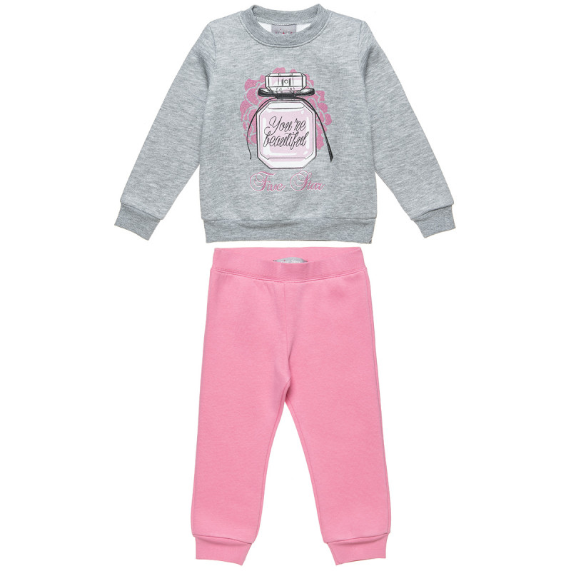 """Tracksuit Five Star """"You're beautiful"""" with glitter detail (18 months-5 years)"""