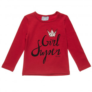 Long sleeve top with glitter detail (12 months-5 years)