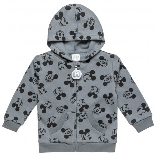 Hooded jacket Disney Mickey Mouse with print (12 months-3 years)