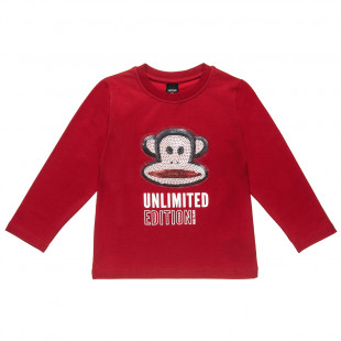 Long sleeve top Paul Frank with patch (12 months-5 years)