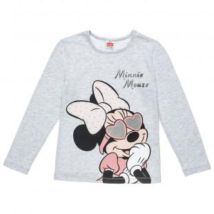 Long sleeve top Disney Minnie Mouse with strass and foil detail (6-10 years)