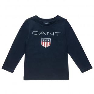 Μπλούζα Gant με τύπωμα σε 2 χρώματα (2-7 ετών)