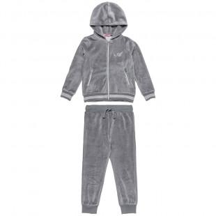 Σετ φόρμας βελουτέ ζακέτα με παντελόνι (6-16 ετών)