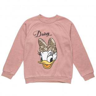 Long sleeve top Disney Daisy Duck with sequins (18 months-12 years)