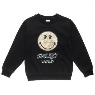 Μπλούζα SmileyWorld® με παγιέτες (6-14 ετών)