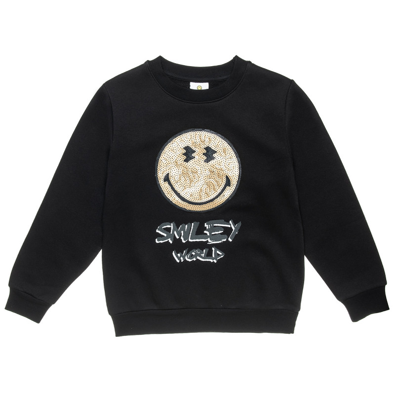 Long sleeve top SmileyWorld® with sequins (6-14 years)