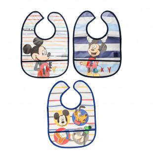 Σαλιάρες σετ 3τμχ με τσέπη Disney Mickey Mouse