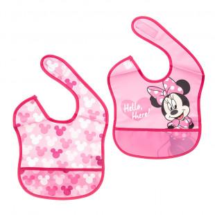 Σαλιάρες σετ 2τμχ με τσέπη Disney Minnie Mouse