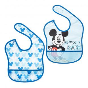 Σαλιάρες σετ 2τμχ με τσέπη Disney Mickey Mouse