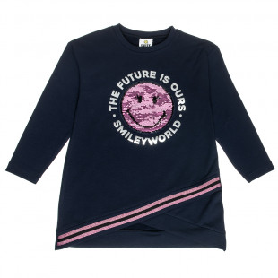 Dress SmileyWorld® with double sequin (5-12 years)