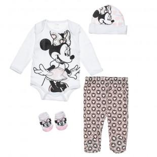 Σετ Disney Minnie Mouse 4 τεμάχια (0-3 μηνών)