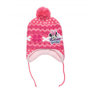 Beanie Disney Minnie Mouse with pom pon and embroidery one size (1-2 years)