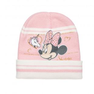 Σκούφος Disney Minnie Mouse με glitter λεπτομέρειες one size (1-2 ετών)