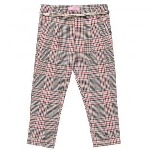 Παντελόνι καρό με ρεβέρ και ζωνάκι (6-14 ετών)