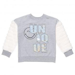 Μπλούζα SmileyWorld® με γούνινα μανίκια (5-12 ετών)