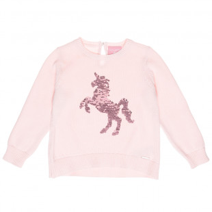 Sweater with flippy sequin unicorn (2-5 years)