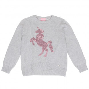 Sweater with flippy sequin unicorn (6-14 years)