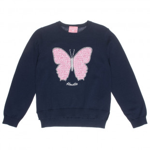 Sweater with sequin butterfly design (6-14 years)